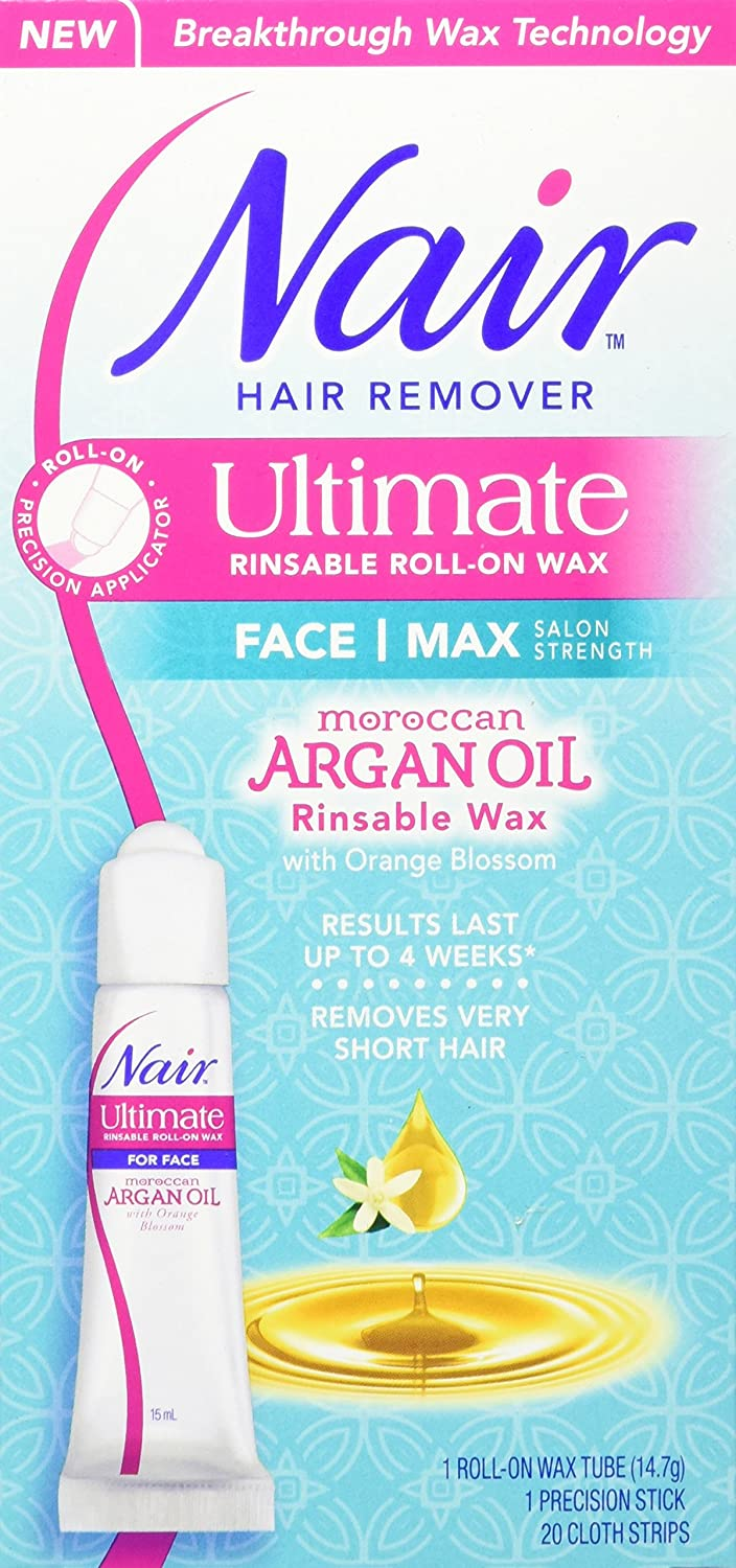 Nair, Nair ultimate rinsable roll-on wax with argan oil, 15 Milliliter Church & Dwight CA