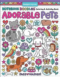 Notebook Doodles Adorable Pets Coloring Activity Book Design Originals