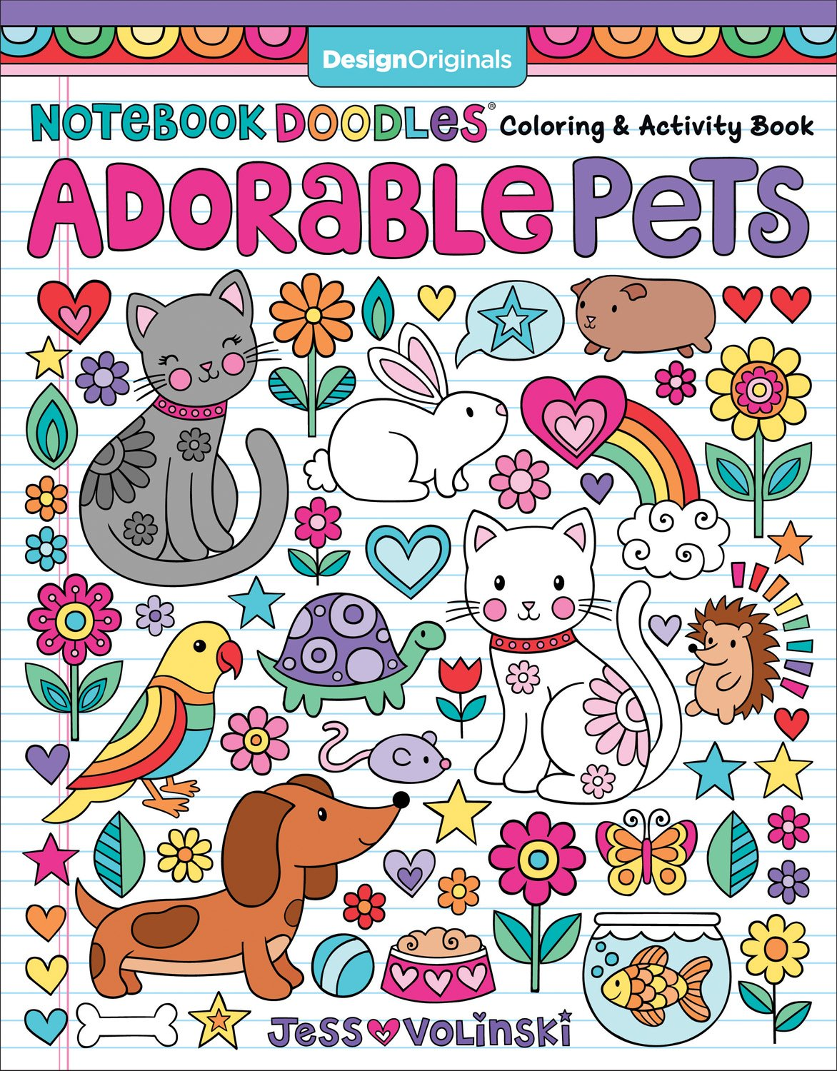 Notebook Doodles Adorable Pets Activities product image
