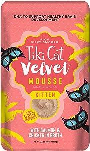 Tiki Cat Velvet Mousse Kitten Salmon Wet Food, 2.4 Ounces, Case of 12