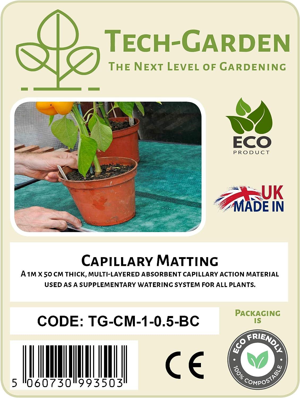 Tech-Garden Verdure Materassino capillare di Alta qualit/à per vassoi di Semi di Grado Commerciale per Serre Coltura Frutta e cestini da Appendere Piante in Vaso
