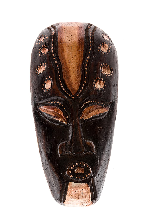20cm Madera Maske Mascara Careta caratula Esculture Figura Fair Trade Decoracion HM2000014