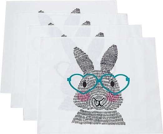 E por diseño Whats Up conejo Manteles individuales – juego de 4: Amazon.es: Hogar