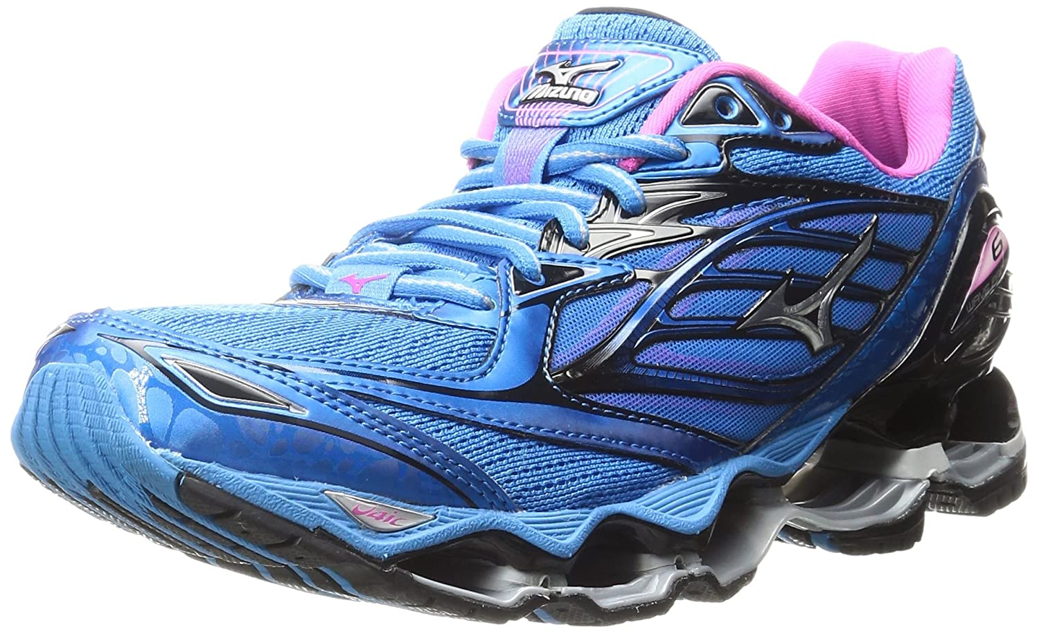 Mizuno Women's Wave Prophecy 6 Running Shoe B01H4X9IZS 9 B(M) US|Diva Blue-silver