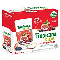 Deals on 32-Count Tropicana Kids Organic Juice Drink Pouches 5.5Oz