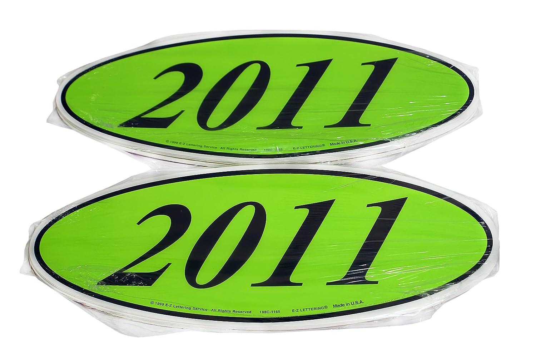 C//B 2019 Oval Model Year Windshield Dealer 2 Dozen Stickers Chartreuse Green//Black Window Sticker