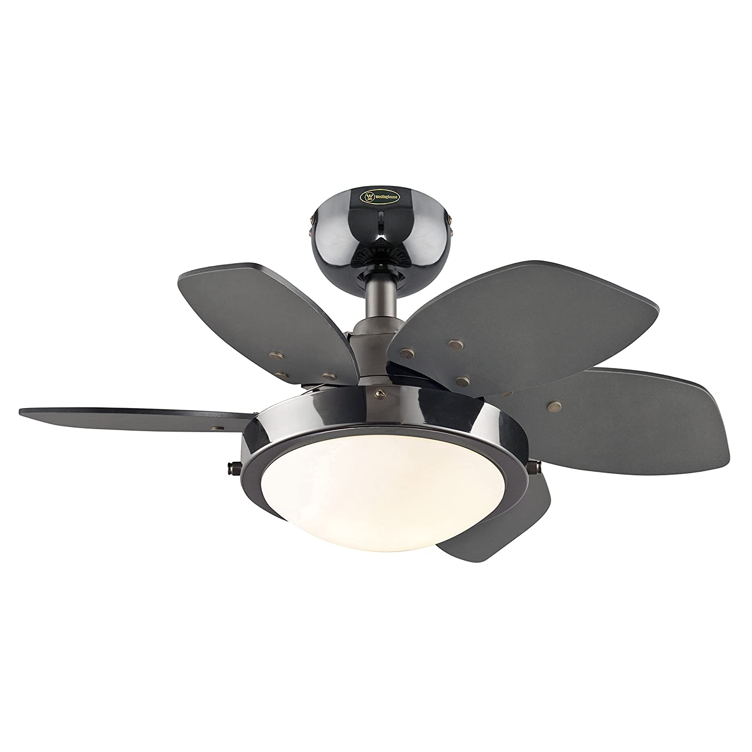 Quince 24 Inch Gun Metal Indoor Ceiling Fan Light Kit