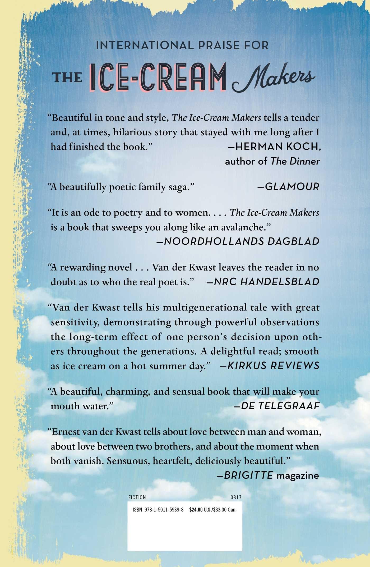 Amazon: The Icecream Makers: A Novel (9781501159398): Ernest Van Der  Kwast: Books