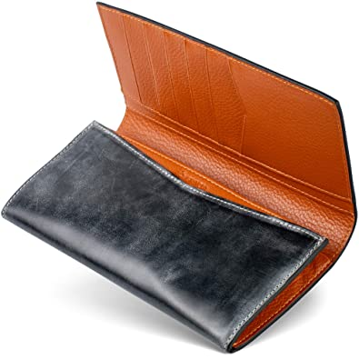 bef664e6541a Amazon | [男のブライドルレザー本革二つ折り長財布] ブライドルレザー ...