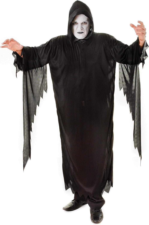 Demon/Scream - Disfraz de la muerte para hombre, talla única ...
