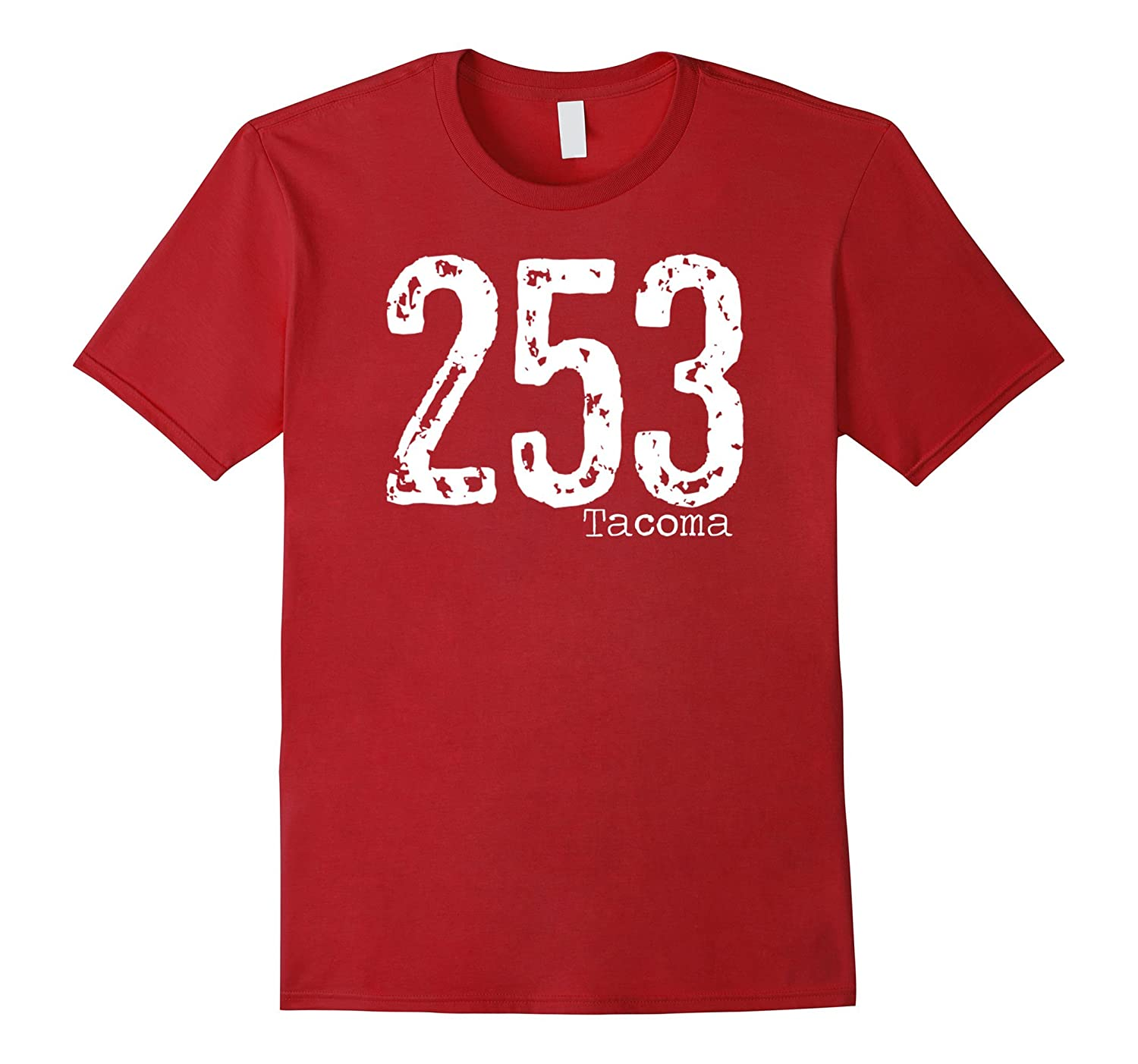 253 Tacoma Area Code T-Shirt Distressed Vintage-TH