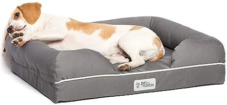 Cama de espuma viscoelástica para perros medianos y grandes, Gris (Slate Grey- Small