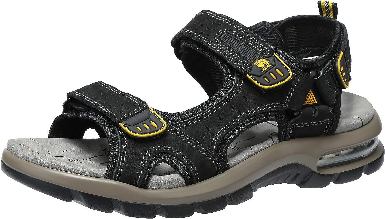 CAMEL CROWN Homme Randonnee Sandales Cuir Trekking Outdoor Sport Marche Sandale Respirant Bout Ouvert Chaussures /ét/é D/écontract/é