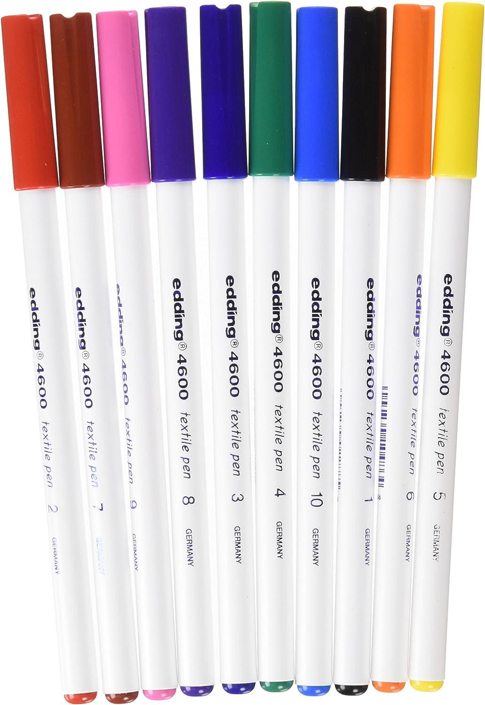 4004764023189 Edding 4600 Textilmarker 4600-005 Rundspitze 1 mm gelb