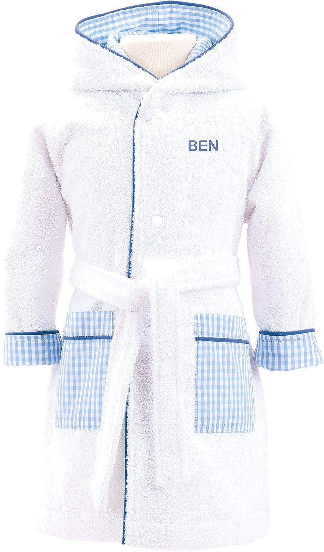 Babysutten Bademantel Hund hellblau - Smithys 98-104