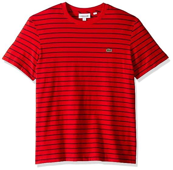 4720ebe2 Lacoste Men's Short Sleeve Jersey Striped Necktape