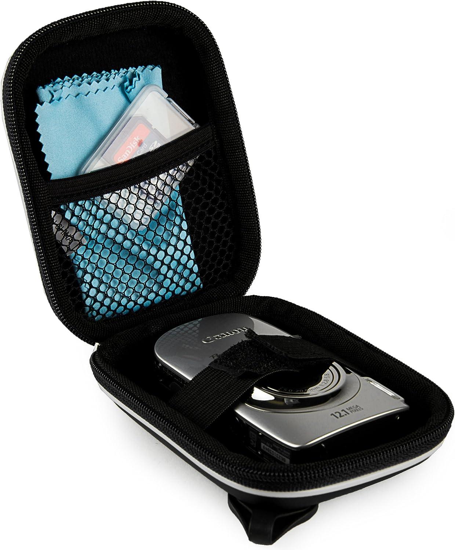 Black VanGoddy Semi Hard EVA Carrying Case for Fujifilm FinePix Series Digital Cameras and Screen Protector