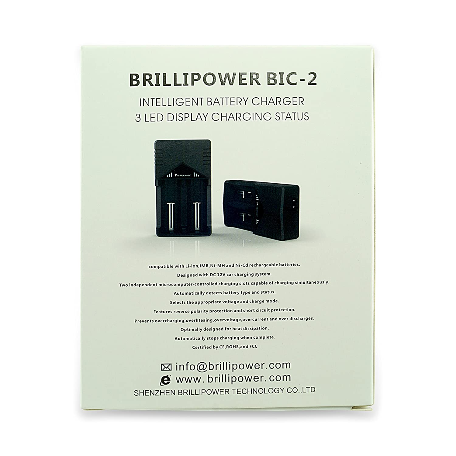 Brillipower Bic2 Universal Fast Dual Battery Charger Automatic Nicd Circuit Li Ion Ni Mh Cd Home Audio Theater