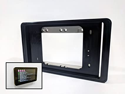 Professional Wall Mount for Raspberry Pi Touchscreen (Black Anodized  Aluminum)