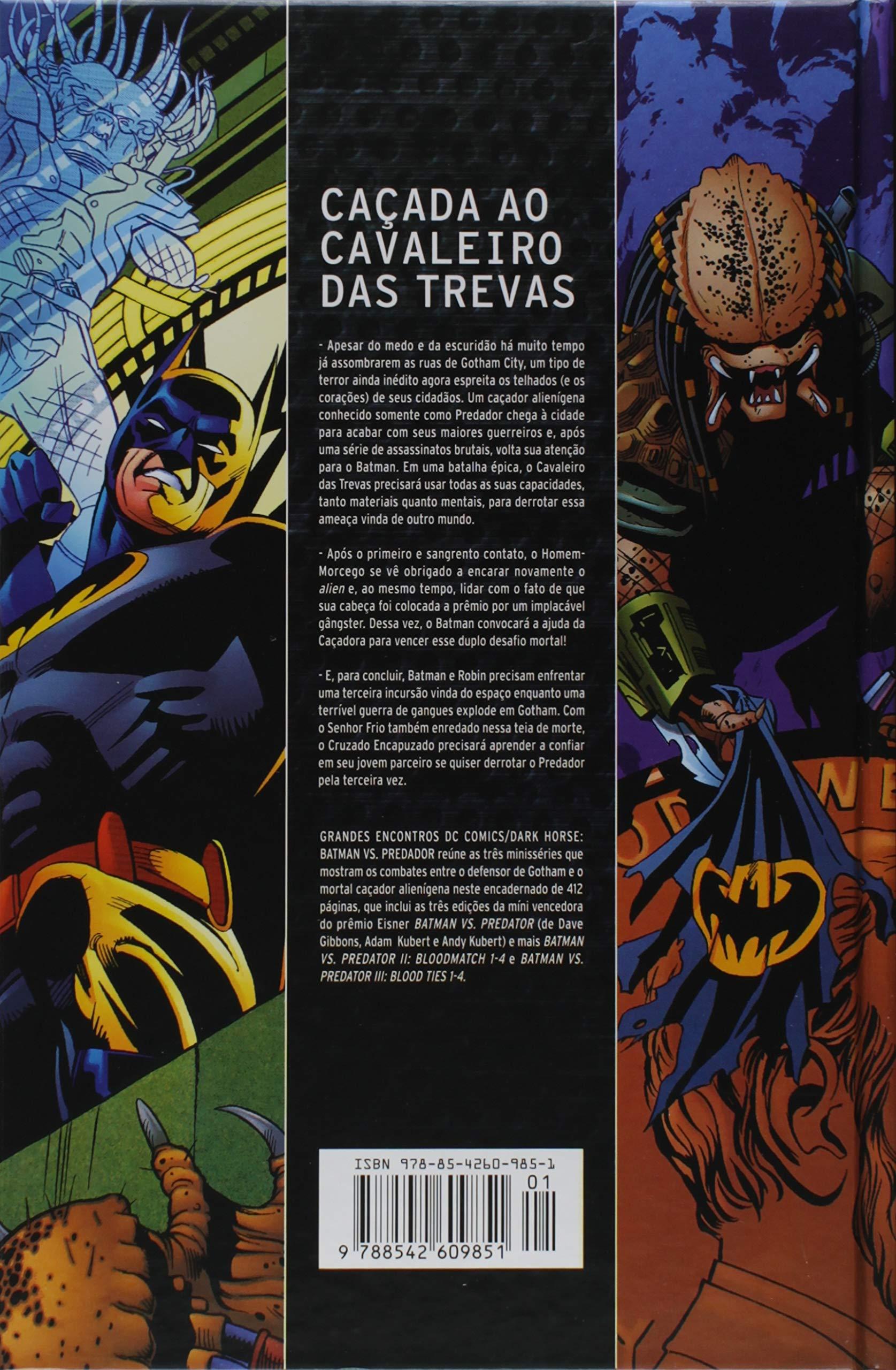 d79d92f7b25 Grandes Encontros. Dc Comics Dark Horse. Batman Vs. Predador -  9788542609851 - Livros na Amazon Brasil