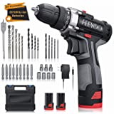 Cordless Drill Set with 2 Batteries, 12.8V 28Nm Powerful Electric Drill Screwdriver Set 31Pcs (2x3900mAh Batteries, 2…