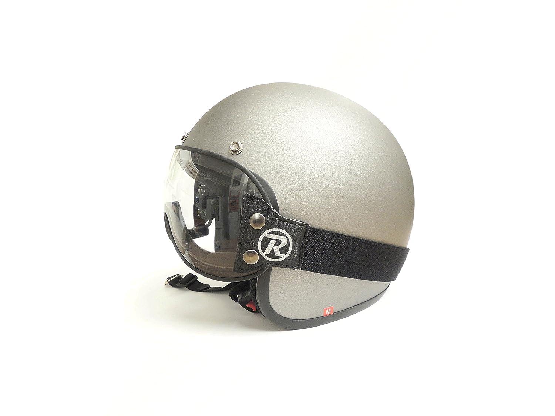 Raleri StrapSter CLASSIC Visiera Universale per caschi con elastico Crystal Clear/Trasparente per casco Café Racer e Custom.