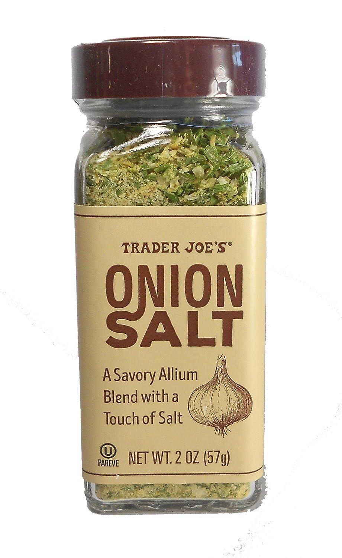 Trader Jo'e Onion Salt Savory Allium blend Seasoning Salt