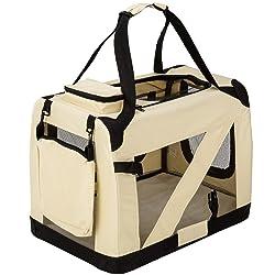 tectake 800102 - Cage Box de Transport Pliable pour Chien - diverses Tailles au Choix (M | No. 401038)