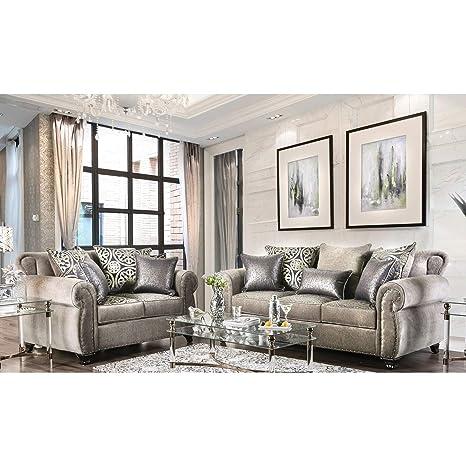 Amazon.com: furniture of america daeler Classic 2 piezas ...