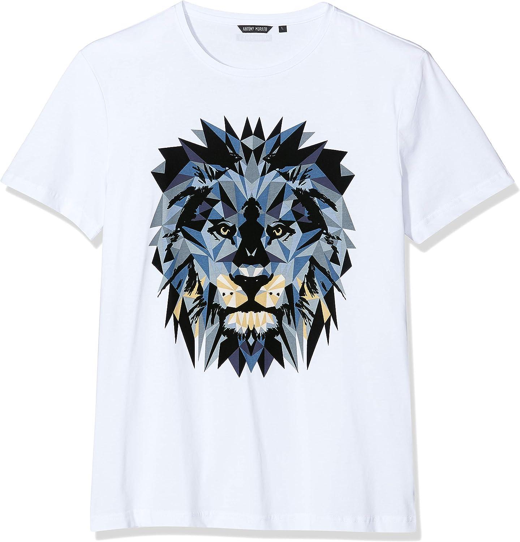 Antony Morato T-Shirt Girocollo Stampa Leone Camiseta de Tirantes, Blanco (Bianco 1000), Medium para Hombre: Amazon.es: Ropa y accesorios