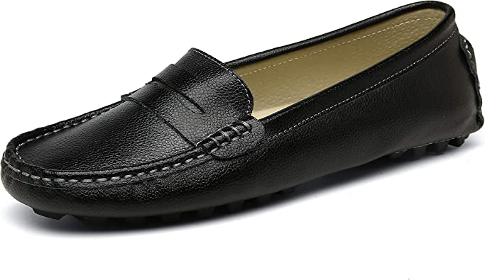 SUNROLAN Womens Penny Loafers Driving
