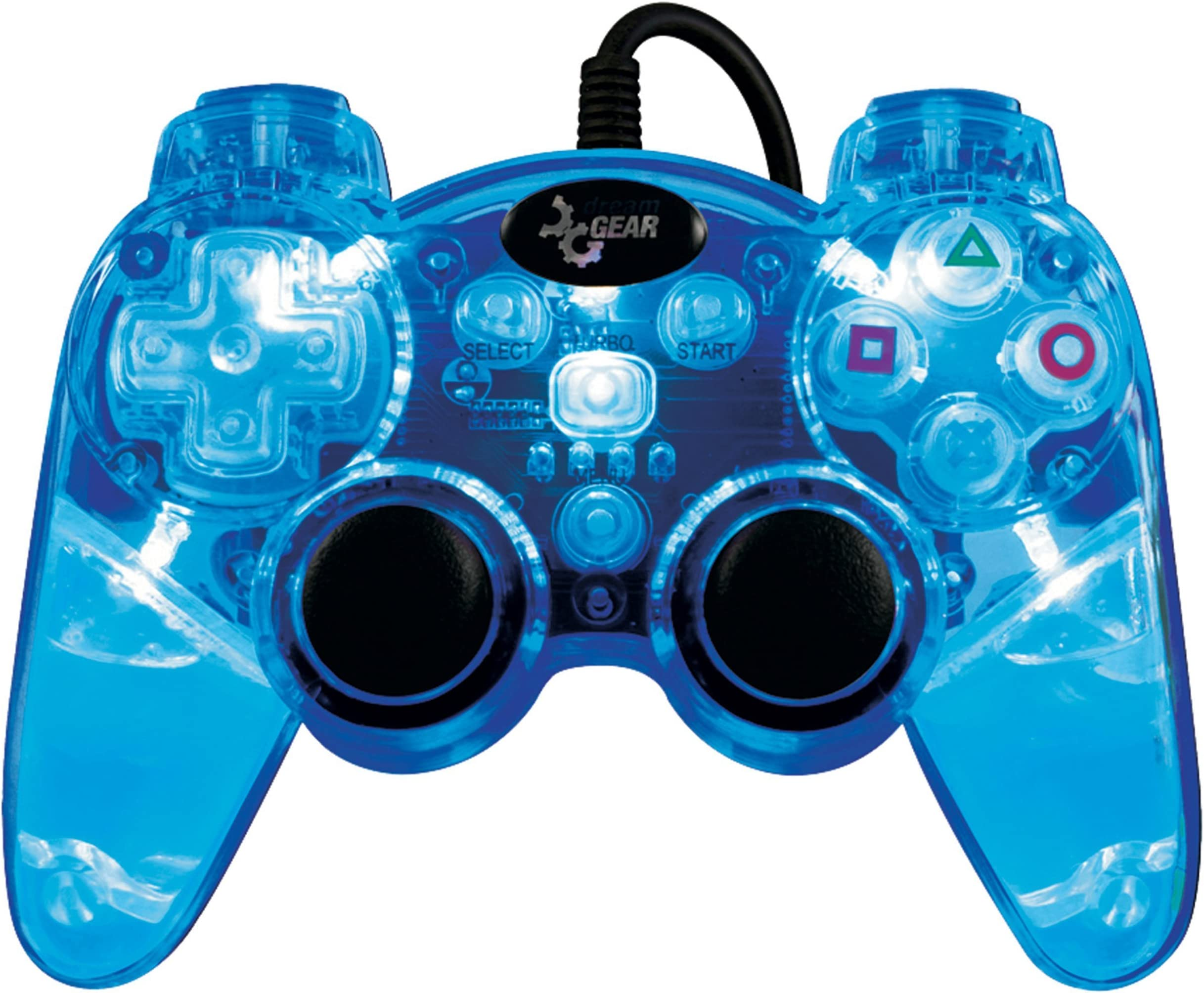 Amazon.com: Playstation 3 Lava Glow Wired Controller without Rumble ...