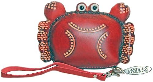 Amazon.com: piel Cangrejo rojo – Monedero – Personalizado ...
