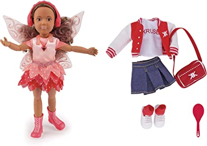 Kruselings Doll Joy, Deluxe Set with Magical Outfit, Casual Outfit and Accessories