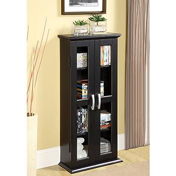 Great Walker Edison 41u0026quot; Media Storage Cabinet, Black