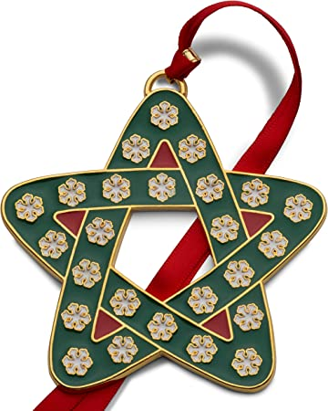 Wallace 2020 Dated Christmas Ornaments Amazon.com: Wallace 5254042 Annual Gold Plate and Enamel Star 2020