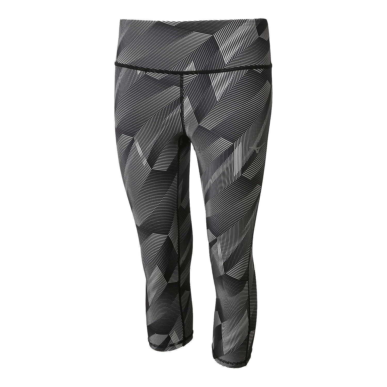 Mizuno Damen Hineri Reversible 3/4 Tight Laufbekleidung Tight Dunkelgrau - Grau L
