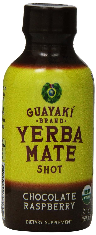 Guayaki Yerba Mate Organic Chocolate Raspberry Energy Shot, 2 Ounce -- 12  per case
