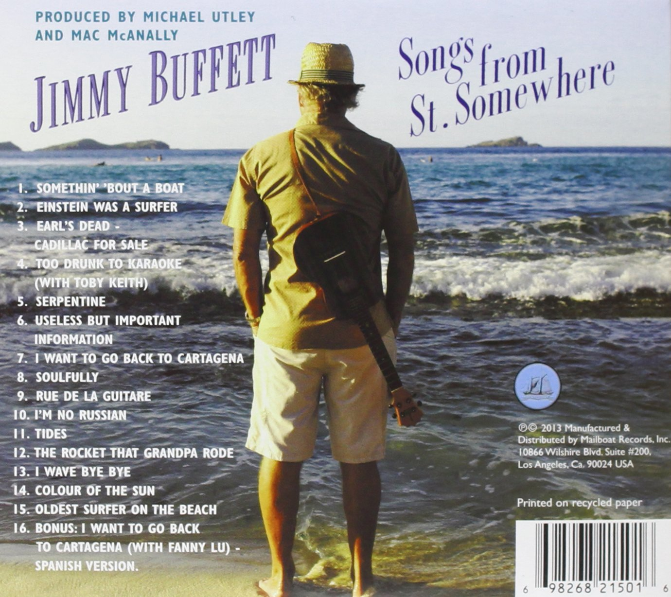 Jimmy 2013 Songs From St Somewhere Tour Double Sided Concert Handbill Buffett