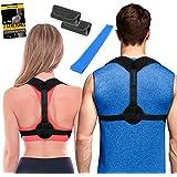 Posture Corrector for Women + Underarm Pads - Upper Back Spine Straightener Correction Slouching Brace - Best Upright…