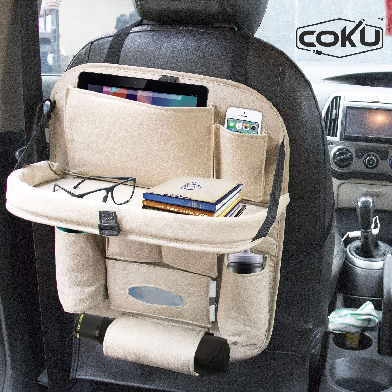 FOLDING CAR SEAT BACK ORGANIZER BAG BOX PC COMPUTER TABLE TRAY FOOD DRINK HOLDER