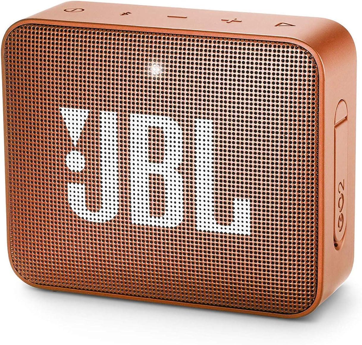 JBL GO 2 - Altavoz inalámbrico portátil con Bluetooth, resistente al agua (IPX7), hasta 5 h de reproducción con sonido de alta fidelidad, naranja