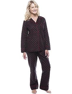 8ac646f857 Noble Mount Twin Boat Womens 100% Cotton Flannel Pajama Sleepwear Set