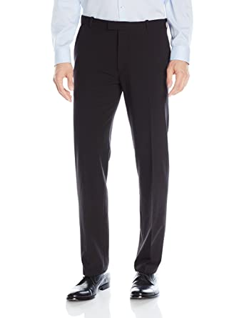 4e249bcc08 Van Heusen Men's Flex Straight Fit Flat Front Pant, Black, 30W x 30L