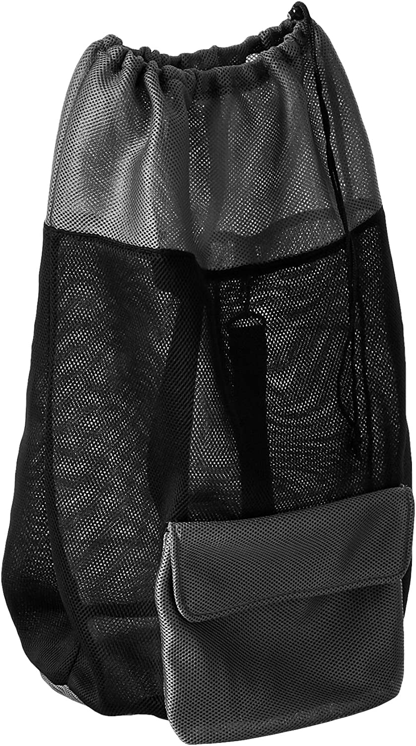 HOMZ Air, Black and Grey Large Mesh Backpack Laundry Bag