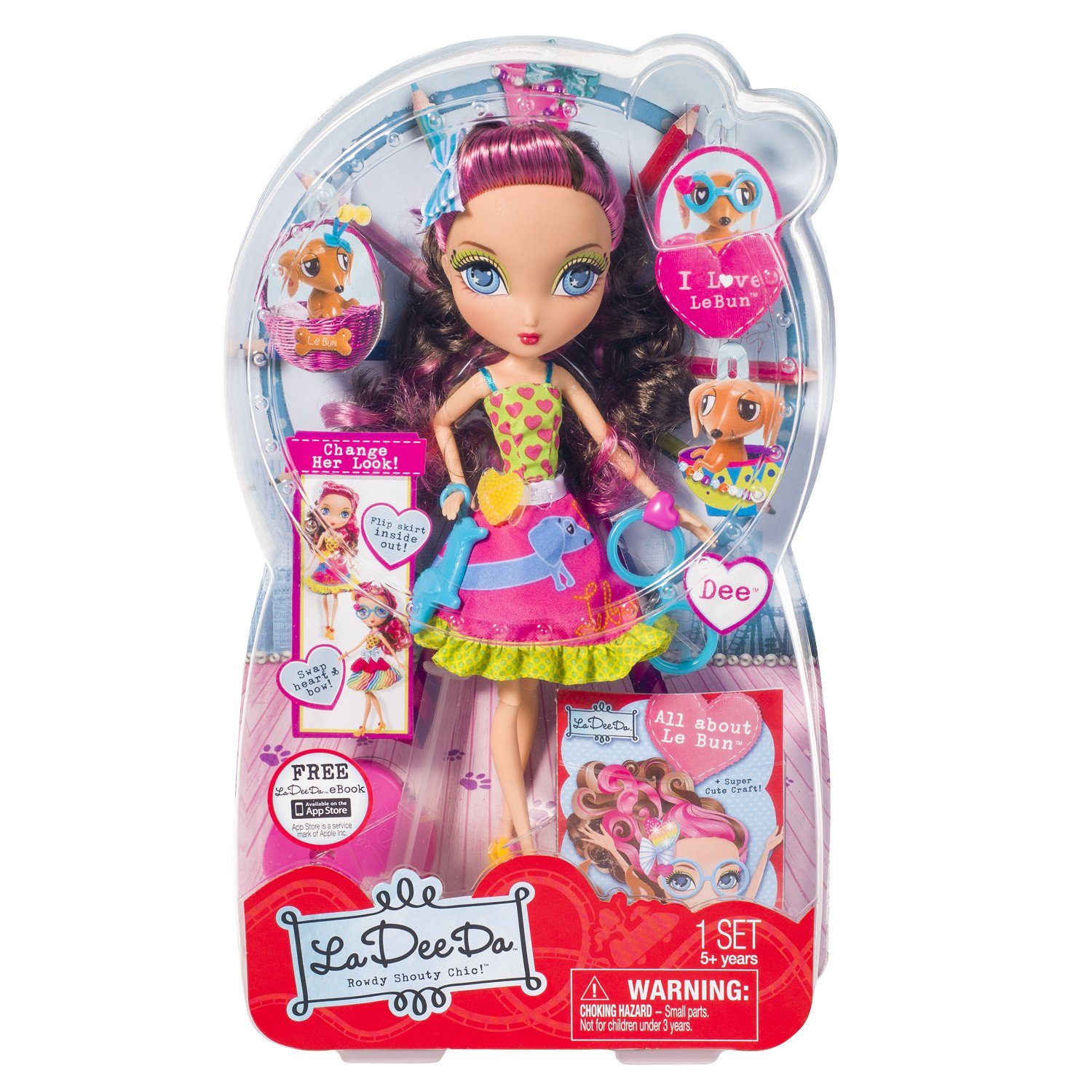 Imported From Abroad La Dee Da Ribbon Salon Playset Doll Spin Master Bambole