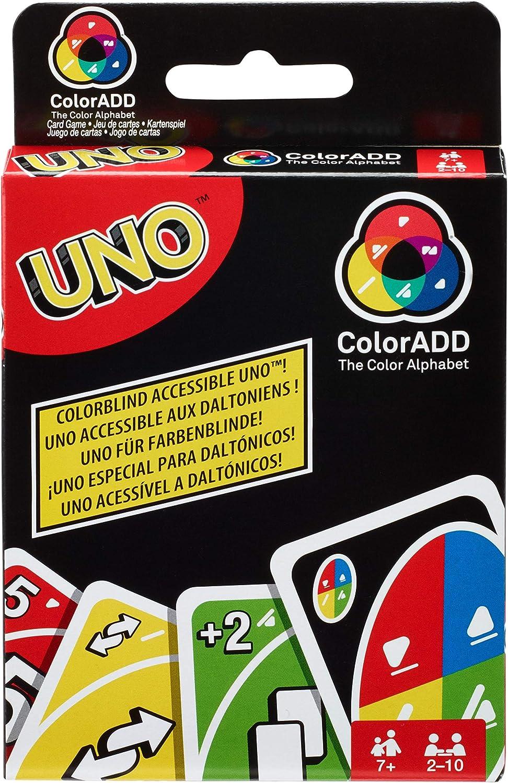 Mattel Games Juego de cartas UNO ColorADD (Mattel GDP08): Amazon.es: Juguetes y juegos