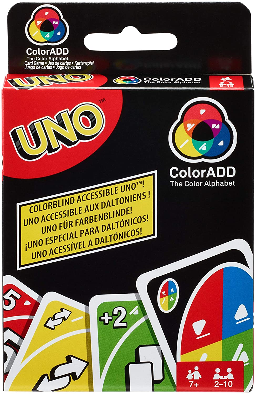 Amazon.com: Mattel Games GDP08 Uno ColorADD with Colour ...