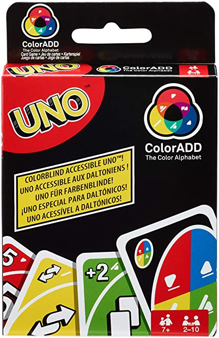 Amazon.com: Mattel Games GDP08 Uno ColorADD with Colour ...