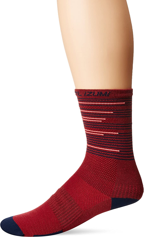 PEARL IZUMI Elite Tall Sock, Port/Midnight Navy Tidal, Medium